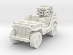 Jeep with 107mm MLR 1/72 in White Natural Versatile Plastic