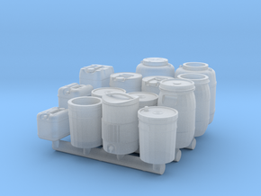1/43 scale liquid containers in Smooth Fine Detail Plastic