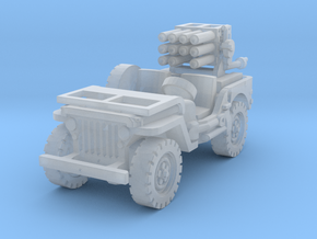 Jeep with 107mm MLR 1/144 in Smooth Fine Detail Plastic