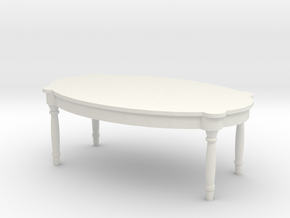 Antique Table 1/24 in White Natural Versatile Plastic