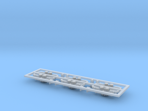 Scala N - FS E632-E633-E652 fiancate carrelli in Smooth Fine Detail Plastic