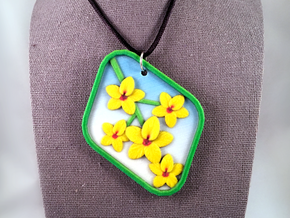 Palo Verde Blossom Pendant in Natural Full Color Sandstone