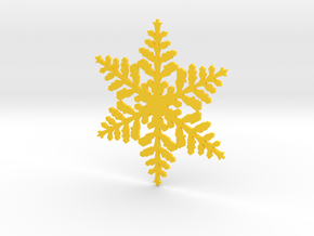 snowflake in Yellow Processed Versatile Plastic