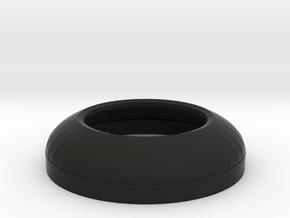Low Profile Dome in Black Natural Versatile Plastic