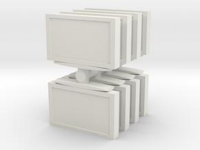 Television (x8) 1/87 in White Natural Versatile Plastic