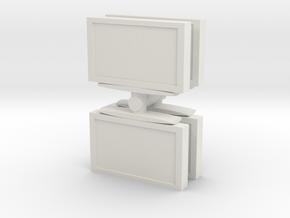 Television (x4) 1/72 in White Natural Versatile Plastic
