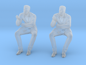 Doctor Sitting at Desk in Smoothest Fine Detail Plastic: 1:64 - S