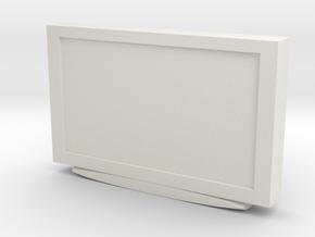 Television 1/35 in White Natural Versatile Plastic