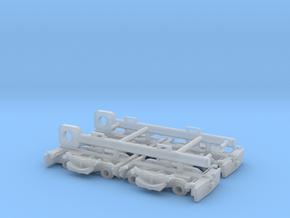 VEVEY Rollbock H0m, 4 Stück mit 2 Kuppelstangen in Smoothest Fine Detail Plastic