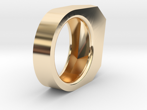 Gold Ring: 14k gold – statement, abstract in 14K Yellow Gold: 5.5 / 50.25
