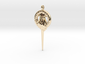 Hand of the King Keychain in 14k Gold Plated Brass