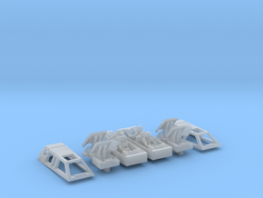 2x Snow speeders, Closed Canopy and Flaps, 1:144 in Smooth Fine Detail Plastic