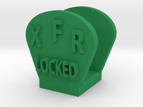 CRC1012 Diff Lock Switch Protector TRX-4 TQi Radio in Green Processed Versatile Plastic