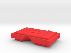 CRC1017 Element RC Enduro Fuel Cell rear brace in Red Processed Versatile Plastic