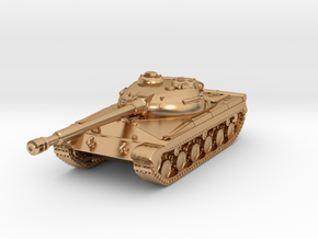 Tank - T-64 - Object 430 - scale 1:220 in Polished Bronze