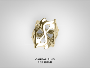 CARPAL RING in 18k Gold Plated Brass: 9 / 59