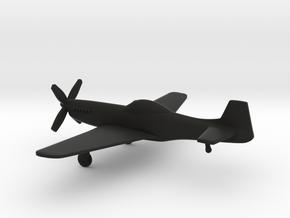 North American P-51D Mustang IV in Black Natural Versatile Plastic: 1:160 - N
