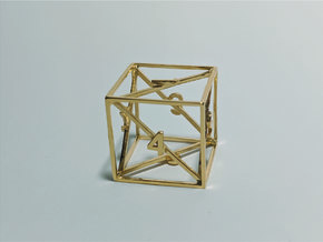 Air - d6 in 18k Gold Plated Brass