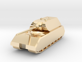 Tank - Panzer VIII Maus - size Large in 14K Yellow Gold