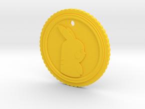 PokeCoin Pendant in Yellow Processed Versatile Plastic