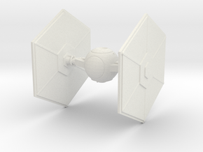 Tie Fighter in White Natural Versatile Plastic