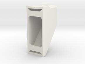 9mm Buffer Stop in White Natural Versatile Plastic