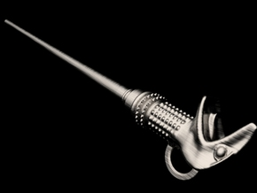 Lucius Malfoy's Wand Keychain in Polished Nickel Steel