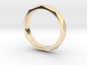 Nonagon Faceted Ring in 14K Yellow Gold: 8 / 56.75
