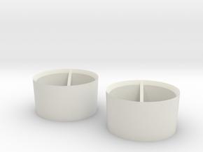 2x foam front rims 11mm +0 in White Natural Versatile Plastic
