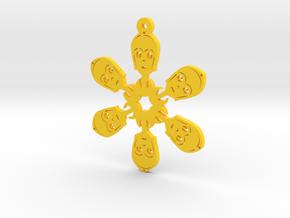 Nerdy Snowflakes - C-3PO - 3in in Yellow Processed Versatile Plastic
