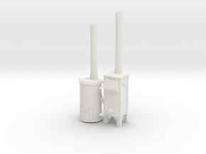 1:16 German Field Oven Trench Stove Set 1 in White Natural Versatile Plastic