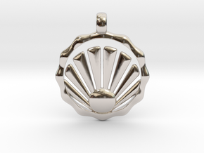 SHELL Symbol Minimal Jewelry Pendant in Platinum