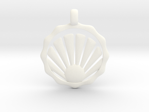 SHELL Symbol Minimal Jewelry Pendant in White Processed Versatile Plastic