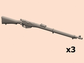 1/20 Lee Enfield rifles Mk.1 in Smooth Fine Detail Plastic