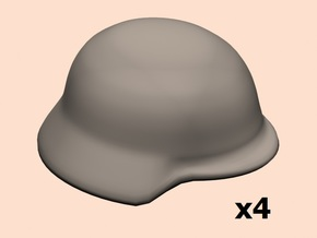 1/24 WW1 German helmet in Smoothest Fine Detail Plastic