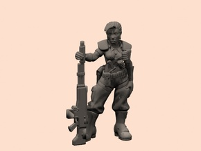 28mm Guards woman sergeant in Smooth Fine Detail Plastic