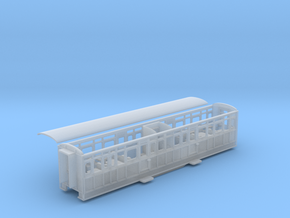 Ffestiniog Rly Barn 3rd/toilet coach NO.105 in Smooth Fine Detail Plastic