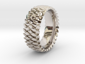 scale ring 2016 size 15  in Rhodium Plated Brass