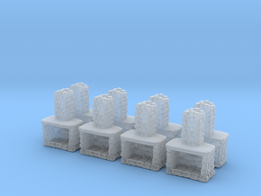 Stone Fireplace (x8) 1/200 in Smooth Fine Detail Plastic
