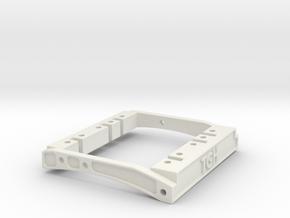 TGH Dual Servo Mount for 73mm Wide Bumper Mounts in White Natural Versatile Plastic