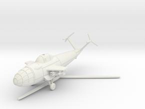 (1:144) Focke Achgelis Fa.336 Attack Helicopter in White Natural Versatile Plastic