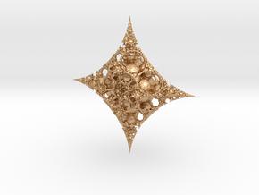 Mandelbulb fractal ornament in Natural Bronze