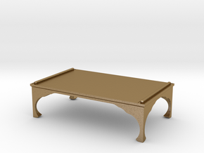 low table in Polished Gold Steel