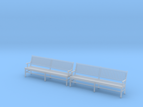 Wood Bench 02. 1:43 Scale in Smooth Fine Detail Plastic