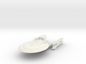 Montana Class Refit Battleship in White Strong & Flexible