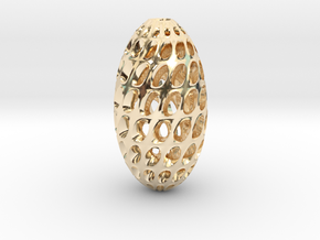 Hollow Egg  in 14K Yellow Gold