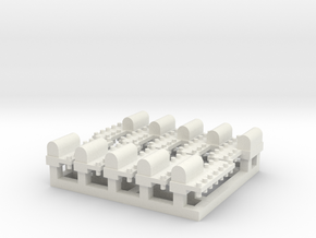 Tiny Naval Base x10 in White Natural Versatile Plastic