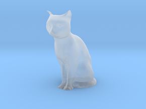 1/32 Sitting Cat in Smooth Fine Detail Plastic