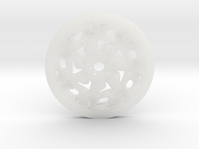 Pendent (rose pattern) in Smooth Fine Detail Plastic