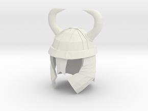 Finger Hat: Viking Helmet in White Strong & Flexible